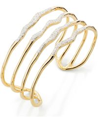Monica Vinader - Riva Diamond Hero Wave Cuff - Lyst