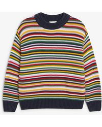 Monki - Striped Knit Jumper - Lyst