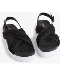 Monki - Sporty Cross-strap Sandals - Lyst