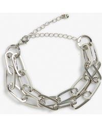 Monki | Silver Chain Bracelet | Lyst