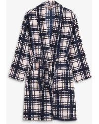 Monki - Fleece Robe - Lyst