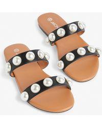 Monki - Imitation Pearl Sandals - Lyst