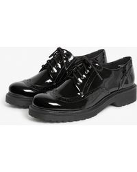 Monki - Patent Oxford Brogue Shoes - Lyst