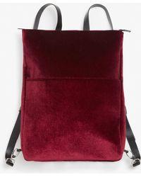 Monki | Velvet Backpack | Lyst