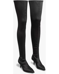 Monki - Stretch Over The Knee Boots - Lyst