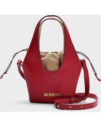 Jacquemus - Le Carino Leather Shoulder Bag - Lyst