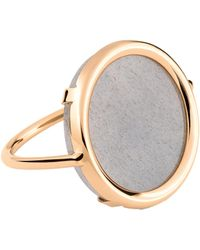 Ginette NY | Ever Moonstone Disc Ring | Lyst