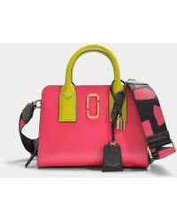 b50ab289e547 Marc Jacobs - Little Big Shot Bag In Multicolour Peony Pink Polyurethane  Coated Calfskin - Lyst