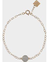 Ginette NY Mini Diamond Ever Disc Bracelet