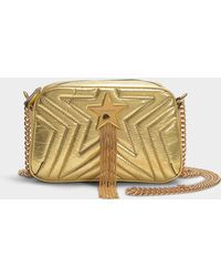 Stella McCartney - Stella Star Metallic Mini Bag In Gold Synthetic Material - Lyst