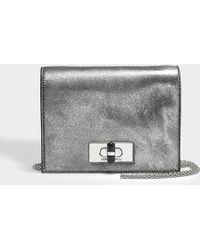 Giorgio Armani - Calliope Mini Bag In Silver Calfskin - Lyst
