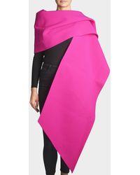 Marc Jacobs - Fleece Stole In Fuchsia Wool - Lyst
