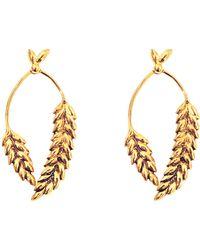 Aurelie Bidermann   2 Cobs Wheat Earrings   Lyst