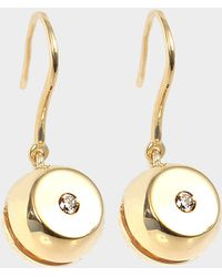 Aurelie Bidermann - Telemaque Mono Earring 750/1000th Yellow Gold With Diamonds - Lyst