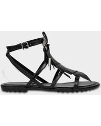 Tod's - Rubber Sole Sandals With Fringe - Lyst