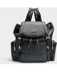 MICHAEL Michael Kors - Mott Medium Backpack In Black Small Pebble Leather - Lyst