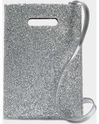 MM6 by Maison Martin Margiela - Minimal Crossbody Bag In Silver Pvc - Lyst