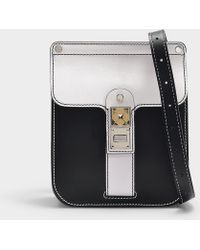 Proenza Schouler - Bag Ps11 Box In Optic White And Black Smooth Leather -  Lyst 07f528a32b31e