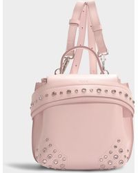 Tod's - Wave Micro Backpack With Crystals In Pink Calfskin - Lyst