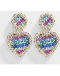 Shourouk - Mini Marilyn Rainbow Earrings In Gold Plated Brass And Multicolor Strass - Lyst