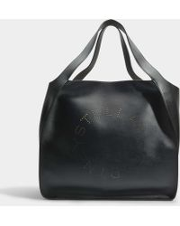Clearance New Oversize Alter Nappa East West Stella Logo Tote Bag in Black Eco Leather Stella McCartney Cheap Sale Wholesale Price Clearance Choice 2018 Cheap Price RVHMHlL
