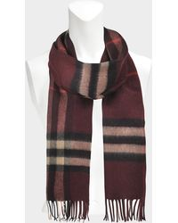 Lyst - Burberry Giant Check Cashmere Scarf 168x30 Cm 3c86b3d062030