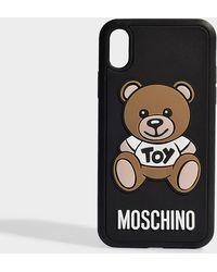 Moschino - Hülle iPhone XR Toy aus schwarzem PVC - Lyst