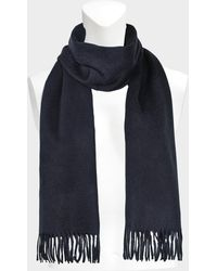 Eric Bompard - Classic Scarf In Navy Cashmere - Lyst