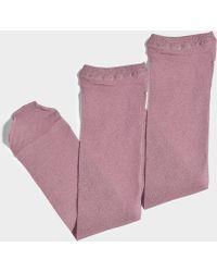 Maria La Rosa - Toe Soft Metallic Soft In Pink Polyamide And Lurex - Lyst