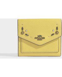 COACH - Small Wallet In Sunflower Calfskin - Lyst