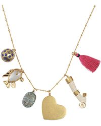 Tory Burch | Charm Pendant Necklace | Lyst