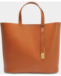 Sophie Hulme - The Exchange E/w Bag In Tan Cowhide - Lyst