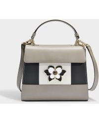Furla - Altea Small Top Handle Bag In Beige - Lyst