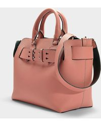 Burberry - The Small Belt Bag In Antique Pink Calfskin - Lyst