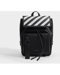 Off-White c/o Virgil Abloh - Diag Binder Backpack In Black And White Calfskin - Lyst