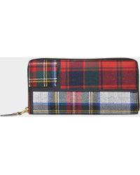 Comme des Garçons - Zipped Wallet In Red Calfskin - Lyst