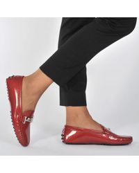 Tod's - Gommini Patent Driving Loafers - Lyst