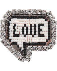 Shourouk | Emojibling Bul Love Brooch | Lyst