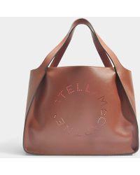 Stella McCartney - Alter Nappa Stella Logo Tote Bag In Pecan Eco Fabric - Lyst