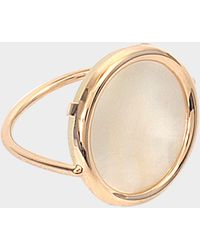 Ginette NY Bague Mother of Pearl Disc or rose 18 carats
