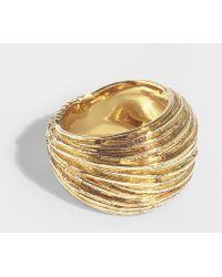 Aurelie Bidermann - Thalia Ring In Gold Plated Brass - Lyst