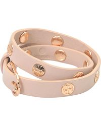 Tory Burch - Double-wrap Logo Studded Bracelet - Lyst