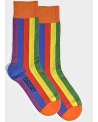 Burberry - Rainbow Stripe Socks In Multicolour Cotton - Lyst
