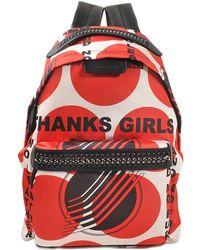Stella McCartney - Eco Nylon Mini Backpack Falabella Go - Lyst