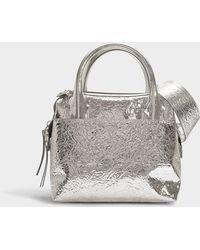 MM6 by Maison Martin Margiela - Doctor Bag In Silver Calfskin - Lyst