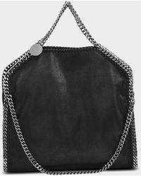 Stella McCartney - Shaggy Deer Falabella Three Chains Bag In Black Eco Leather - Lyst
