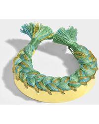 Aurelie Bidermann - Copacabana Bracelet In Emerald Green 18k Gold-plated Brass - Lyst