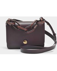 Sophie Hulme - Spring Small Bag In Oxblood Cowhide Leather - Lyst