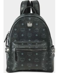 MCM - Stark Small Backpack In Black Synthetic Material - Lyst
