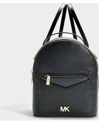 ffadf29141914 MICHAEL Michael Kors - Jessa Small Convertible Backpack In Black Calfskin -  Lyst